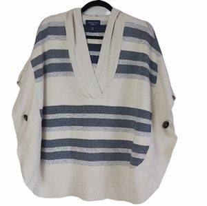American Eagle Poncho Hooded Sweater xs/s